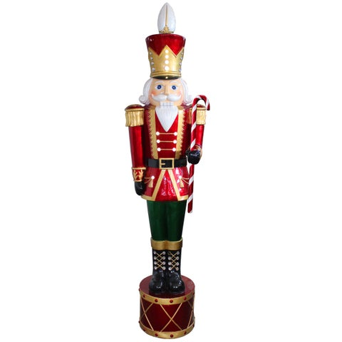 65-inch Indoor/ Outdoor Use Jewelled Nutcracker with Metallic Painting Finish and 20 White LED