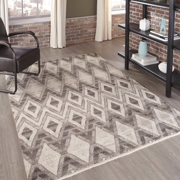 Momeni Atlas Natural Hand-Knotted Wool Area Rug (9'6 x 13'6)