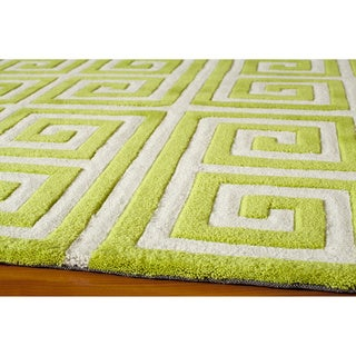 Greek Key Apple Green Hand Tufted Rug  8  x. Greek Key Rug Momeni Home Goods   Overstock com Online Store For