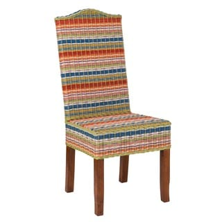 Decorative Multi-Colored Contemporary Funstripes Amelio Accent Chair