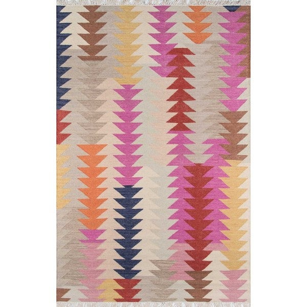 "Momeni Caravan Hand Woven Wool Multi Area Rug - 7'6"" x 9'6"""