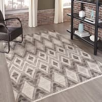 Momeni Atlas Natural Hand-Knotted Wool Area Rug (8' x 11') - 8' x 11'