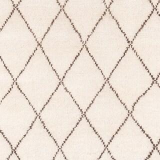 Momeni Atlas Geometric Hand-Knotted Wool Area Rug (8 x 11 - Ivory)