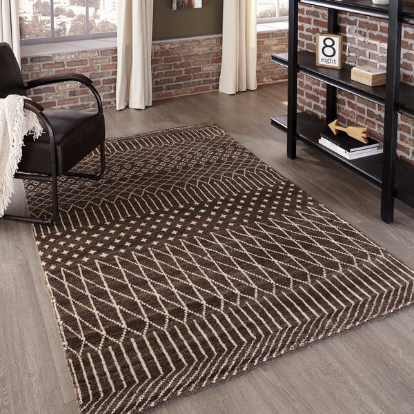 Momeni Atlas Brown Hand-Knotted Wool Area Rug (8' x 11')