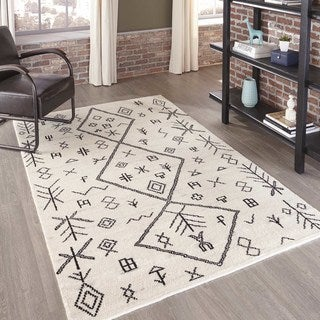Morocco Hand-knotted Natural Geometric Rug (8' x 11')