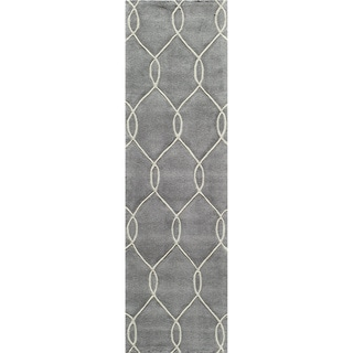 "Momeni Bliss Steel Interlocking Hand-Tufted Runner Rug - 2'3"" x 8' Runner"