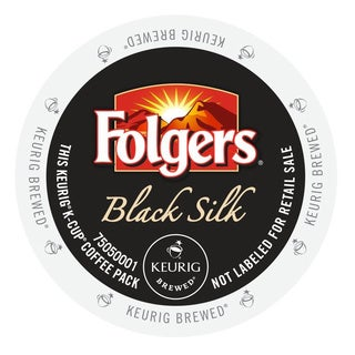 Folgers Gourmet Selections Black Silk Coffee, K-Cup Portion Pack for Keurig Brewers