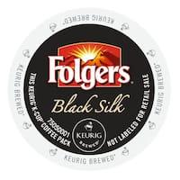 Folgers Gourmet Selections Black Silk Coffee, K-Cup Portion Pack for Keurig Brewers