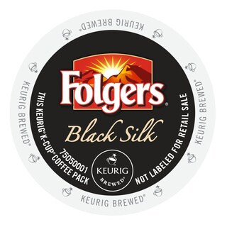 Folgers Gourmet Selections Black Silk Coffee, K-Cup Portion Pack for Keurig Brewers (2 options available)