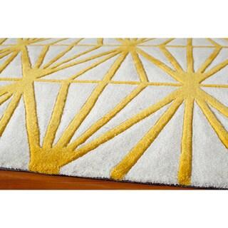 Geometric Gold Hand-Tufted Rug (5' x 7'6)