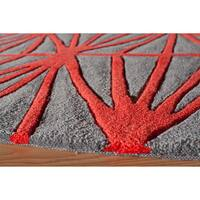 Momeni Bliss Red Diamond Hand-Tufted Rug - 5' x 7'6""