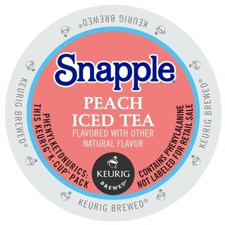Snapple Peach Iced Tea, K-Cup Portion Pack for Keurig Brewers