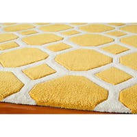 Momeni Bliss Gold Honeycomb Hand-Tufted Rug (2' X 3') - 2' x 3'