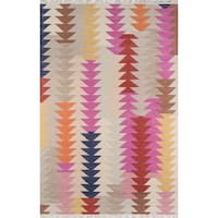 "Momeni Caravan Multicolor Hand-Woven Wool Reversible Rug (5' X 7'6) - 5' x 7'6"""