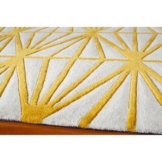 "Geometric Gold Hand-Tufted Rug (3'6"" x 5'6"")"