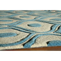 "Momeni Bliss Blue Waves Hand-Tufted Rug - 3'6"" x 5'6"""