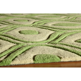 Momeni Bliss Green Waves Hand-Tufted Rug (3'6 X 5'6)