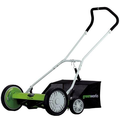 Greenworks 18-Inch Reel Lawn Mower