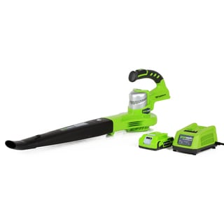 GreenWorks 24352 G-24 130MPH Cordless Sweeper, (1) 2Ah Battery and Charger Inc.
