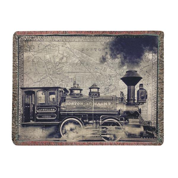Railway Beantown Tapestry Throw