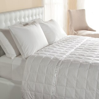Lightweight Oversized Down Blanket with Satin Trim (Option: White - King)