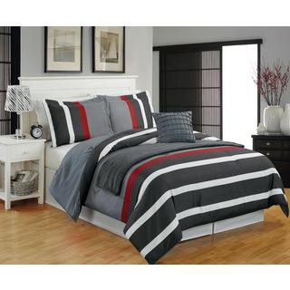 Shop Alex Striped 5 Piece Comforter Set Free Shipping