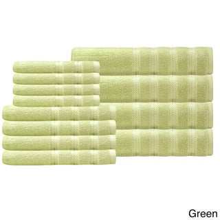 Antalya Collection Salbakos Luxury 600 GSM Turkish Cotton 12-piece Towel Set