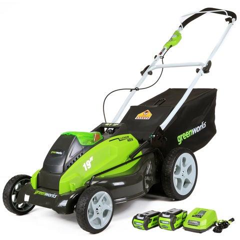 Greenworks G-MAX 25223 40V 19-inch Cordless Lawn Mower
