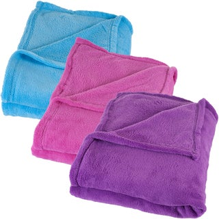 Windsor Home Velvety Soft Throws (Set of 3) - one of each color