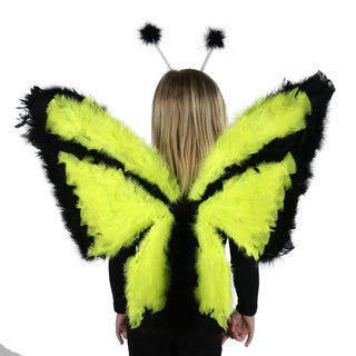 Day-Glow Butterfly Feather Wings
