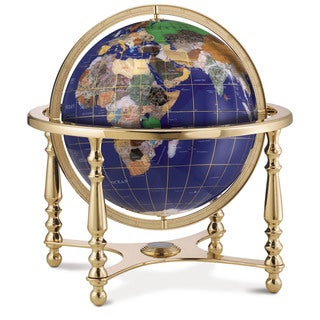 Compass Jewel Gemstone World Globe