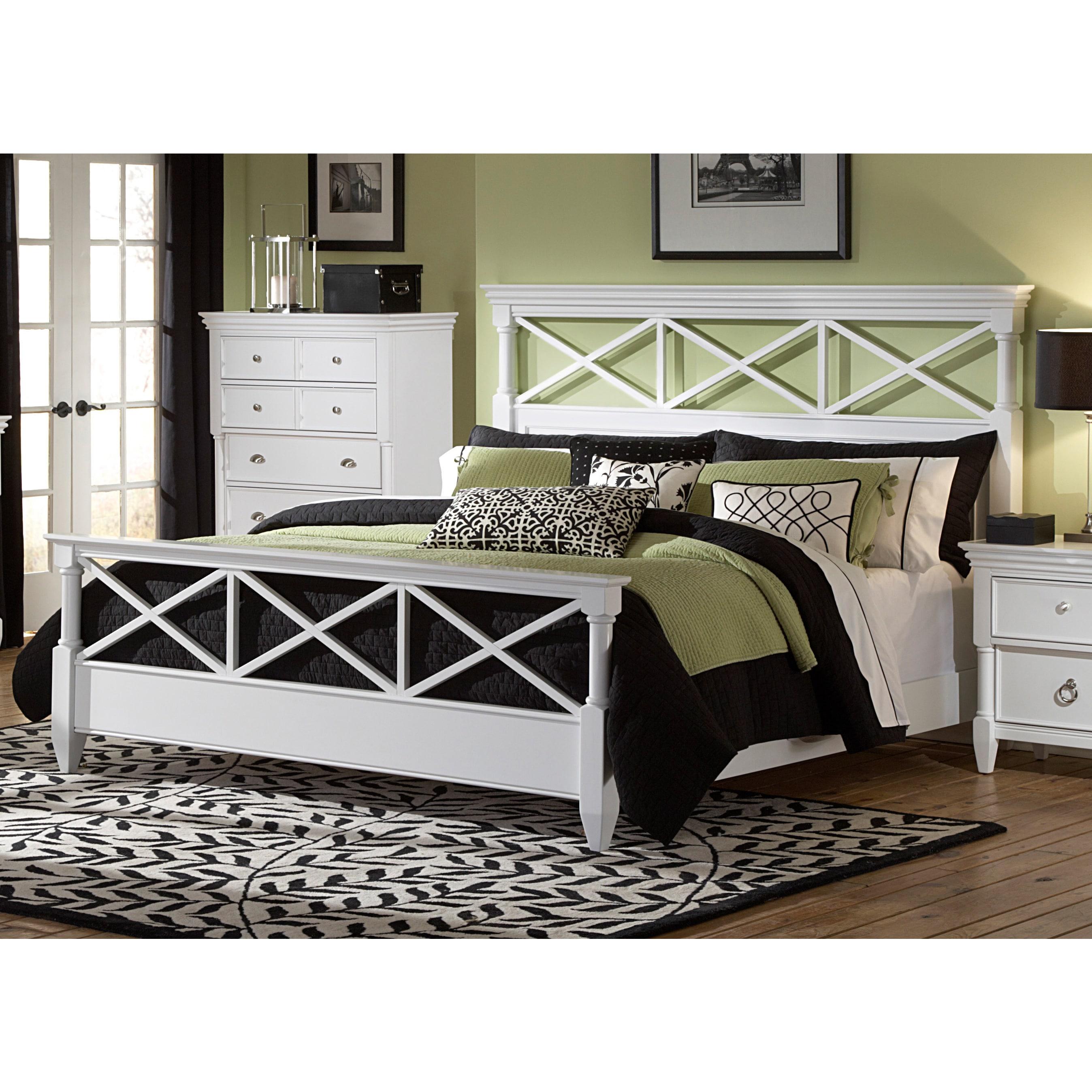 Magnussen Home Magnussen Kasey Wood Panel Bed (Queen), White