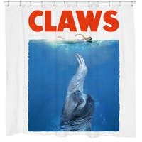 White 'Claws' Sloth Shower Curtain