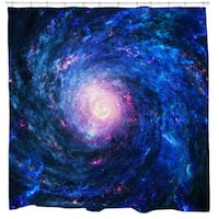 Spiral Galaxy Shower Curtain