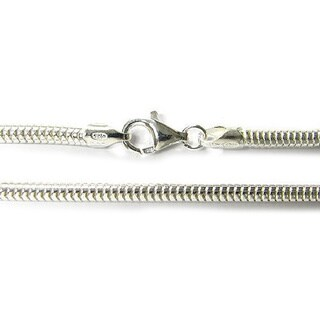 Queenberry Sterling Silver European Style 3mm Snake Chain Bead Charm Bracelet - White