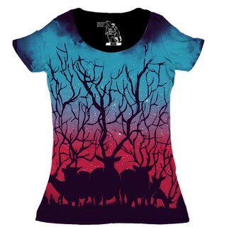Women's Deer Forest Short Sleeve Top (5 options available)