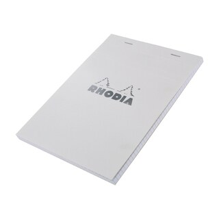 Rhodia Classic Ice Top 8.25-inch Staplebound Grid Paper Notepad