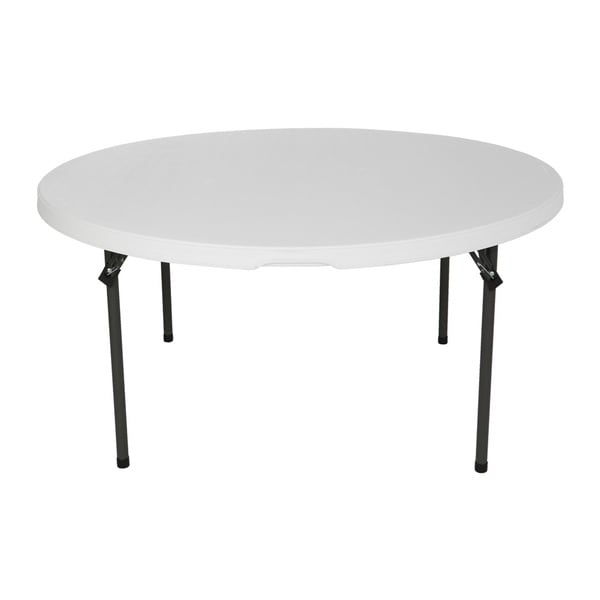 Lifetime 60-Inch White Granite Round Commercial Stacking Folding Table