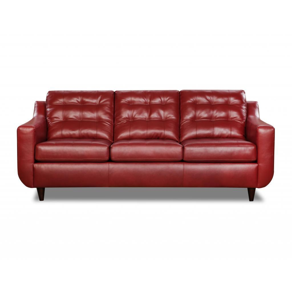 Made to Order Simmons Upholstery Bentley Sofa (red) (Faux...