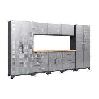 Newage Products Performance Diamond Plate 9 Piece Metal Cabinet Set