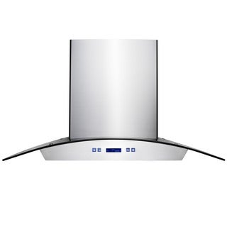 Kokols 30-inch Wall Mount Stainless Steel Glass Canopy Range Hood