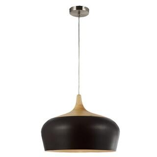 Legion Furniture Pendants 18-inch Dark Brown Wood Ceiling Lamp