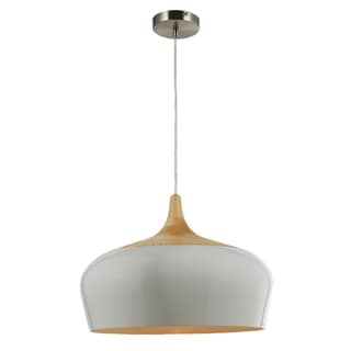Legion Furniture Pendants 18-inch White Wood Ceiling Lamp