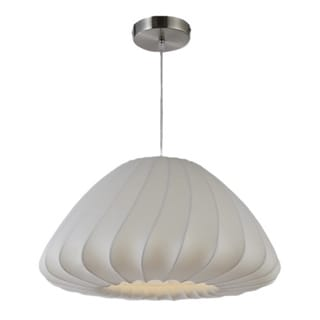 Legion Furniture Pendants 18-inch White Ceiling Cocoon Lamp