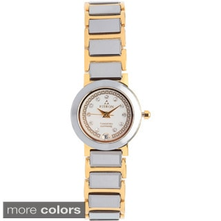 Fitron Women's Two-tone Tungsten Crystal Indicies Watch