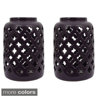 Ceramic Lanterns (Set of 2)