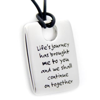 Life's Journey Dog Tag Stainless Steel Necklace