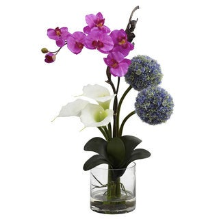 Calla Orchid and Ball Flower Arrangement