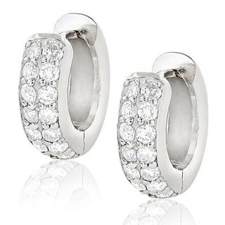 Luxurman 14k Gold 5/8ct TDW Round Diamond Earrings Hoops