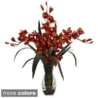 Triple Cymbidium with Vase Arrangement